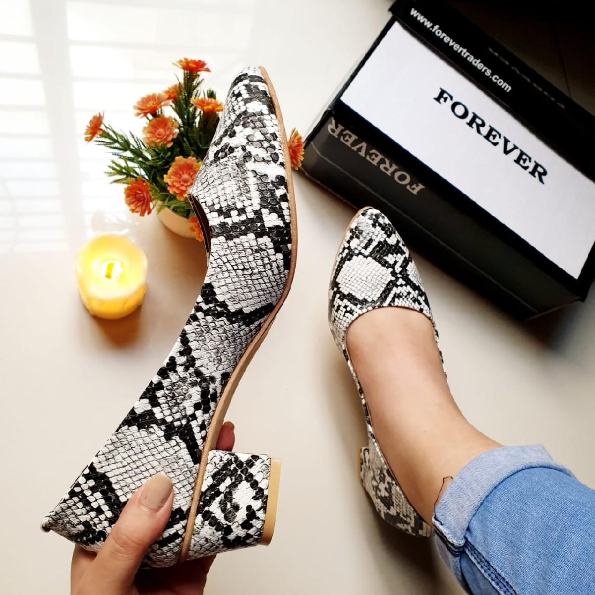 Stylish Pumps Shoes for Women Almond Toe Block Heel SH52