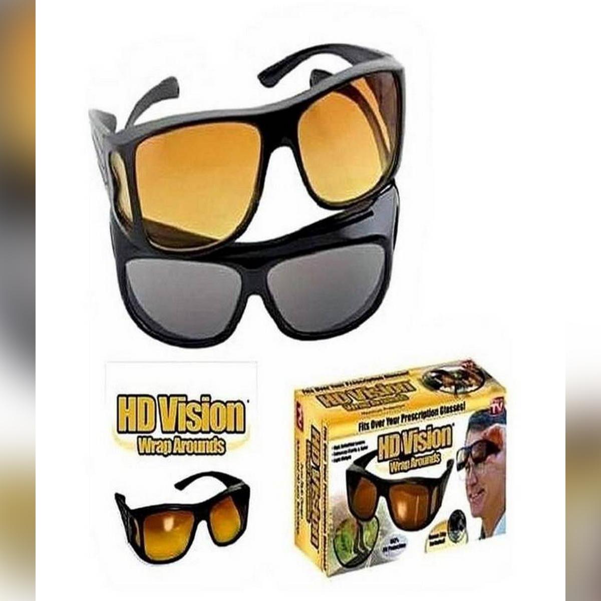 Deemiz Black & Yellow 2 HD Vision Sun Glasses