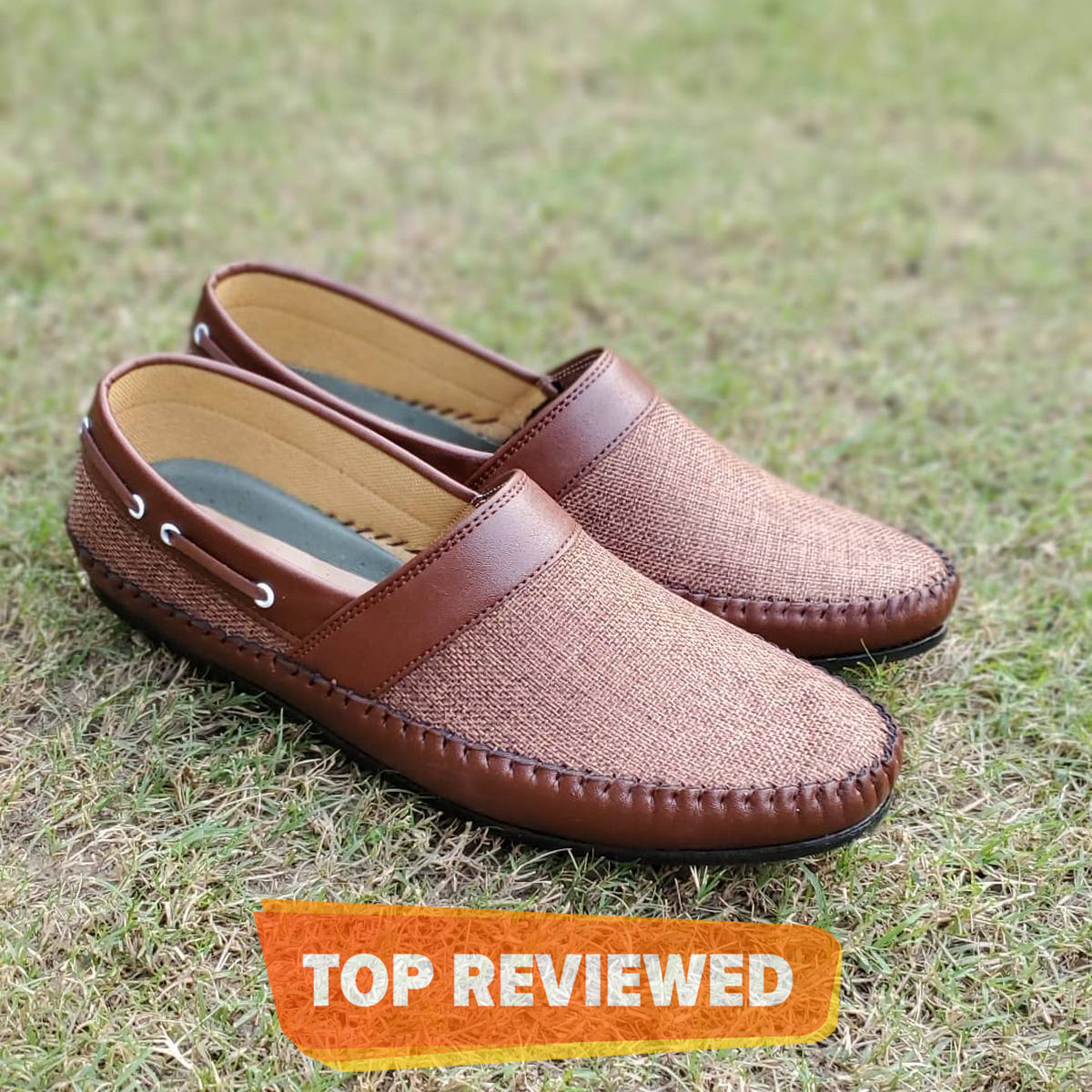 Sack Textured In Brown Synthetic Leather Loafer Shoes By Importia