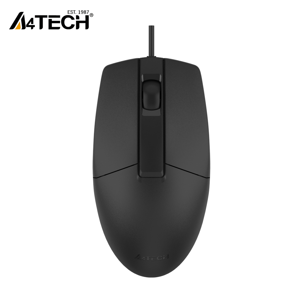 A4Tech OP-330S Wired Mouse - SILENT CLICK - 1000 DPI - For PC Laptop - Black