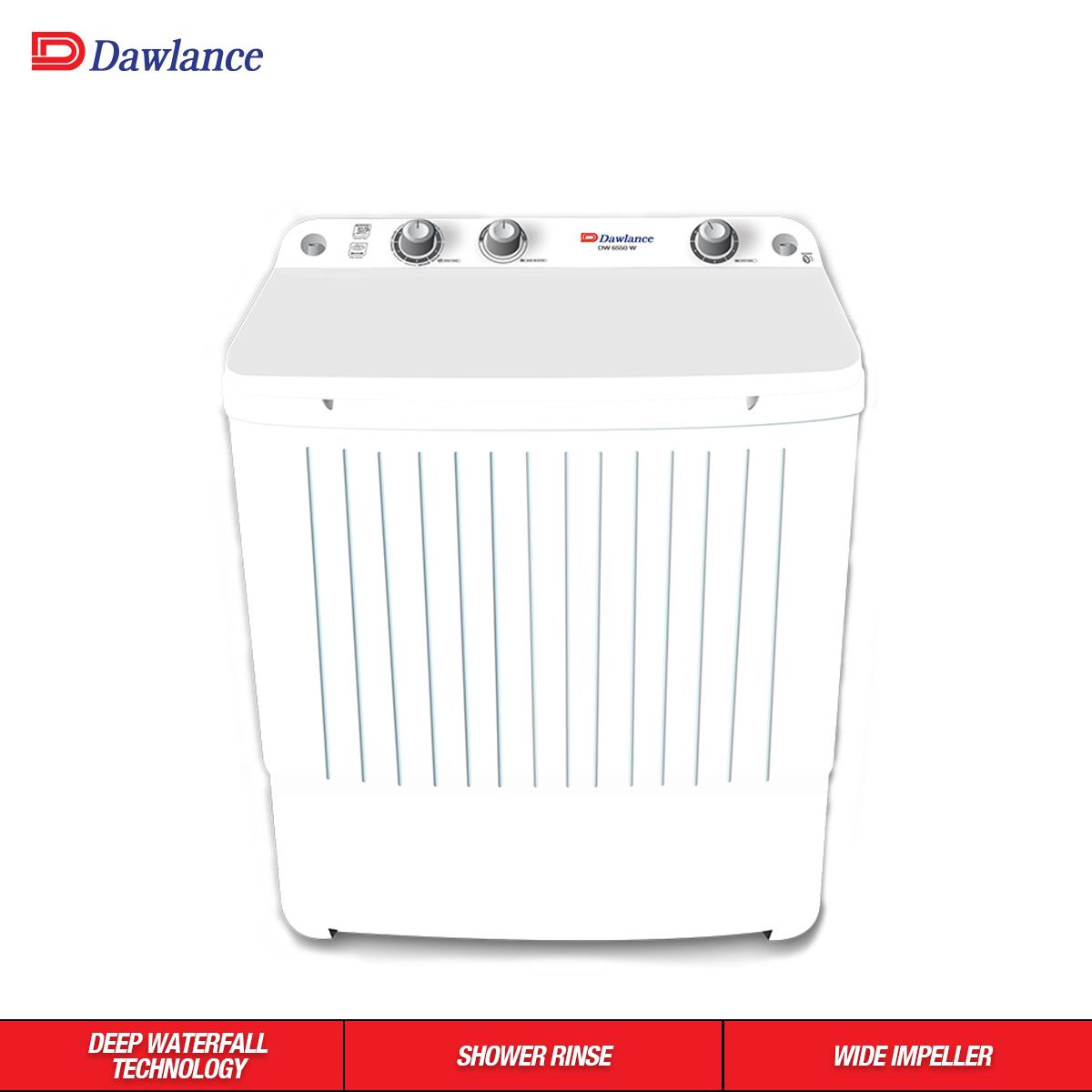 Dawlance 8 Kg Twin Tub Washing Machine Semi Automatic Dw 6550w White Color