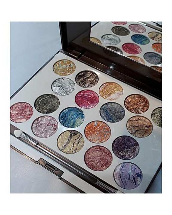 SWEETFACE 18 COLOR DUAL EFFECT TERRACOTTA EYE SHADOW KIT(2)