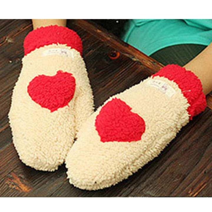 Winter thermal thickening plush gloves of love female thermal full finger gloves