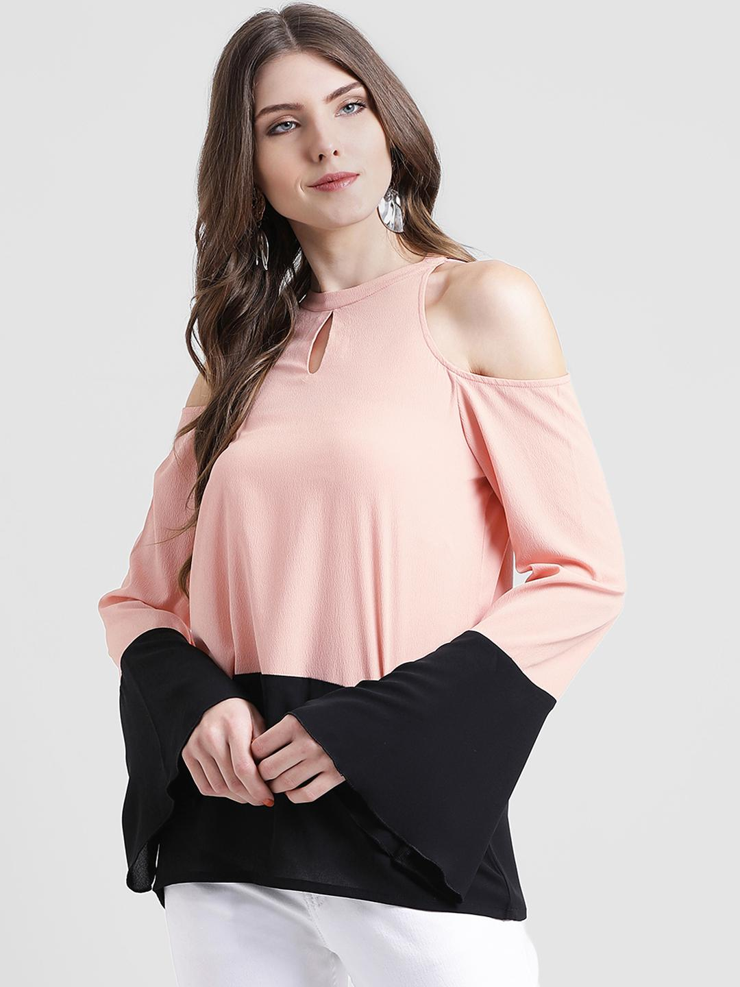 039d30adedd DESIGNER Pink Black Beautiful Stylish Attarctive Party CAsual Wear Top Shirt  Tunic Blouse For Women For