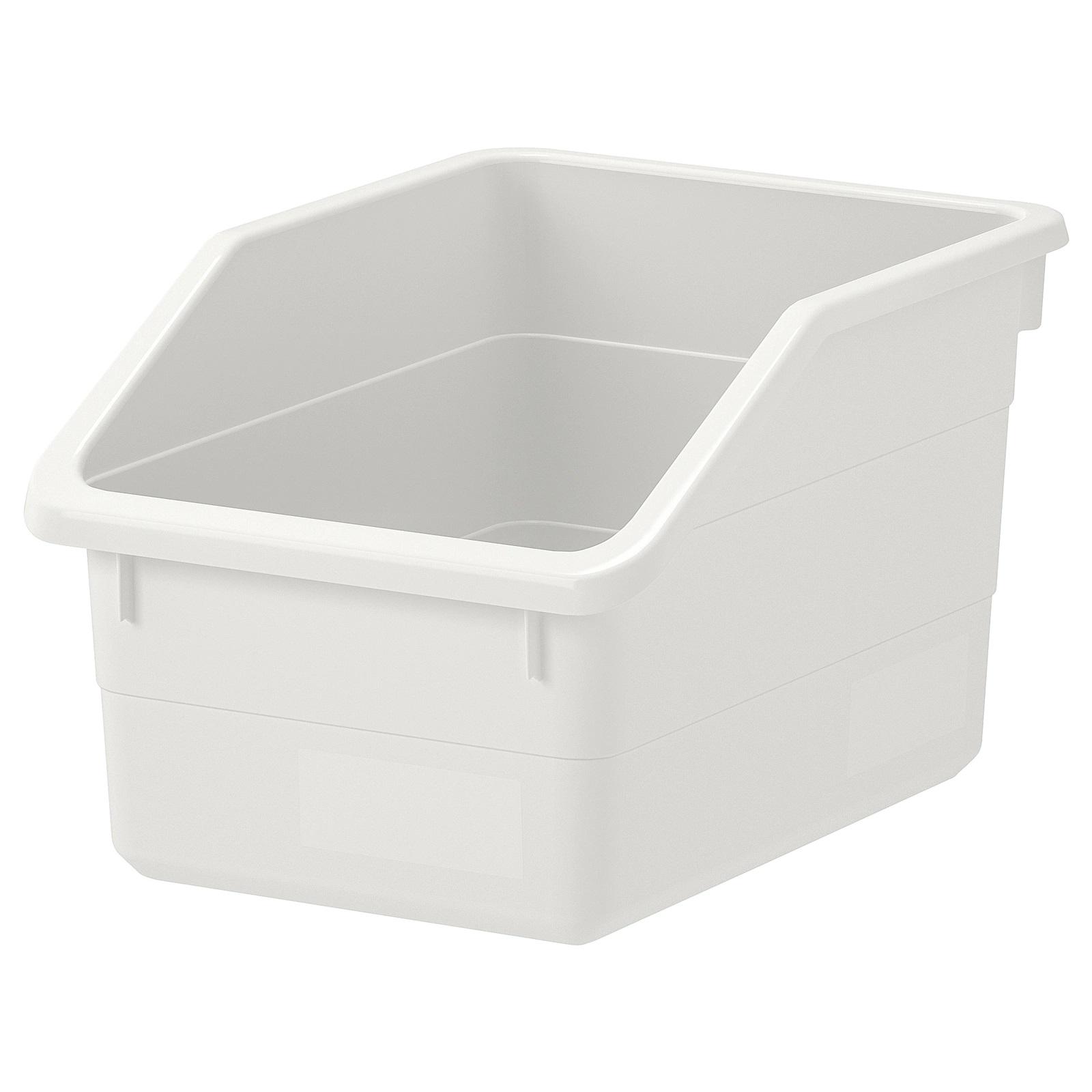 SOCKERBIT Box - white 19 x 26 x 15 cm – Storage Box IKEA – Organizer for tools, stationary, kitchen items, Crafts