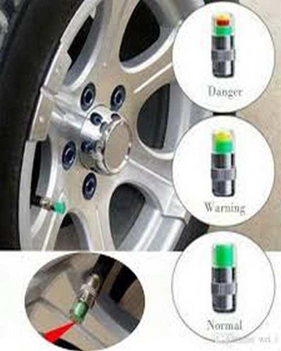 4PCS 2.4Bar 36PSI Car Auto Tire Pressure Monitor Valve Stem Caps Sensor Indicator Eye Alert Diagnostic Tools Kit