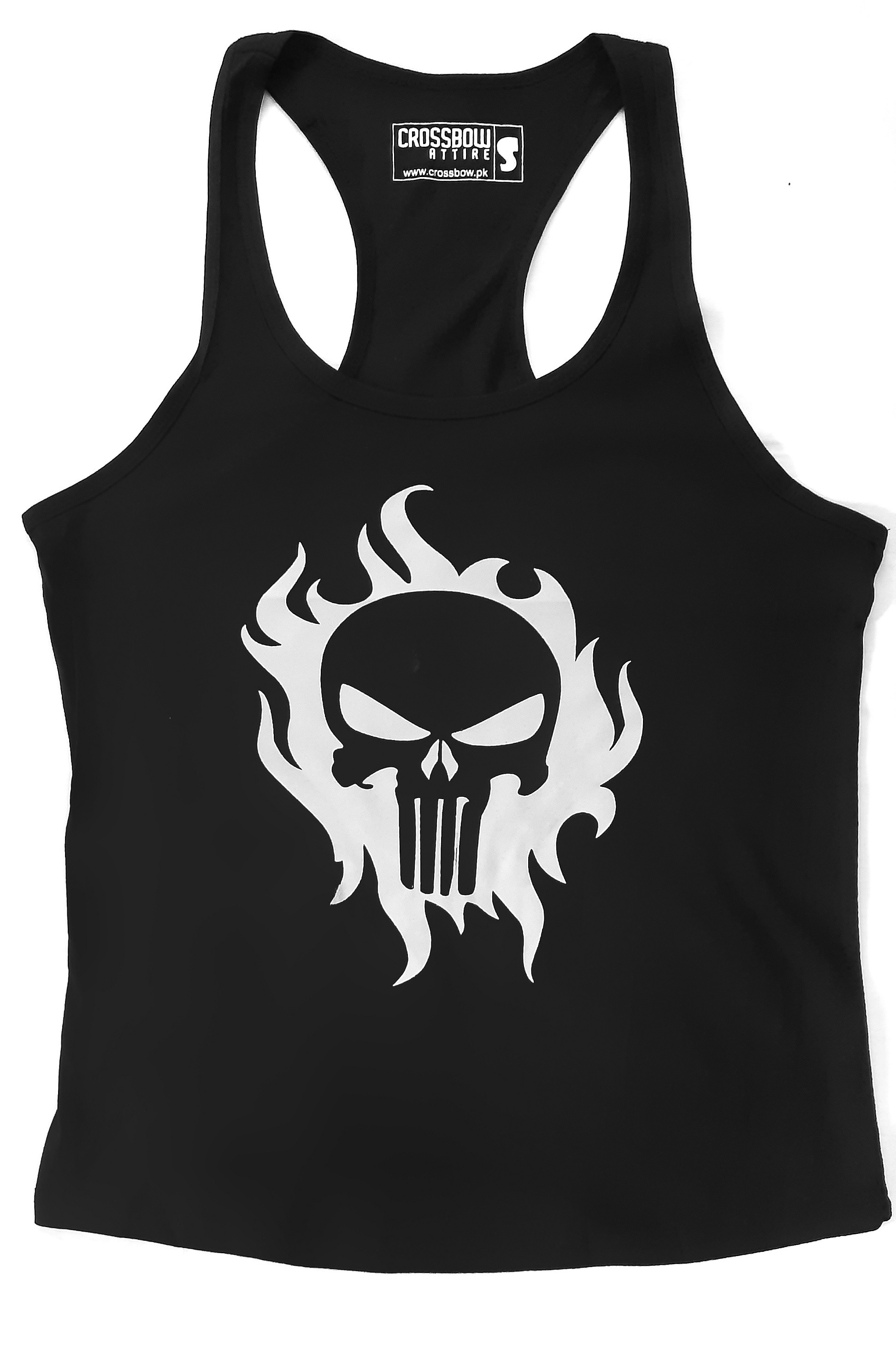 Crossbow Punisher Skull Summer Cotton Tanktop for Gym, Fitness and Training for Men