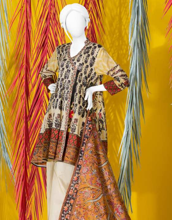 Junaid Jamshed Summer Collection 2019 Vol 2 MULTI Unstitched - 3 PCs Suit for Women