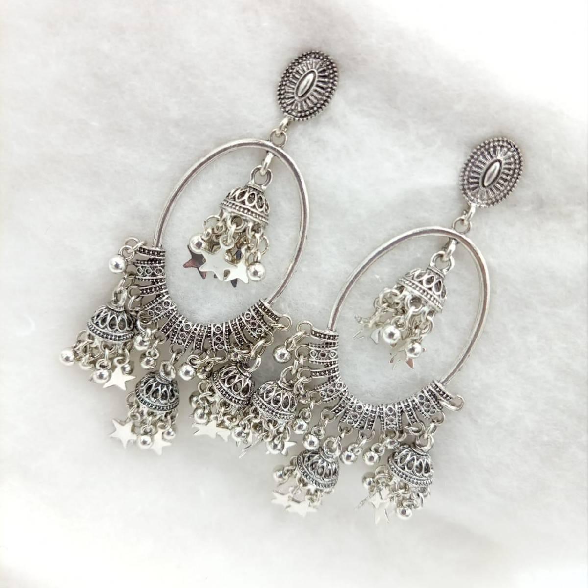 Fashion Infinity Indian Bohemian Design Drop Jhumki Tassels Earrings FOr Women - Fashion Infinity