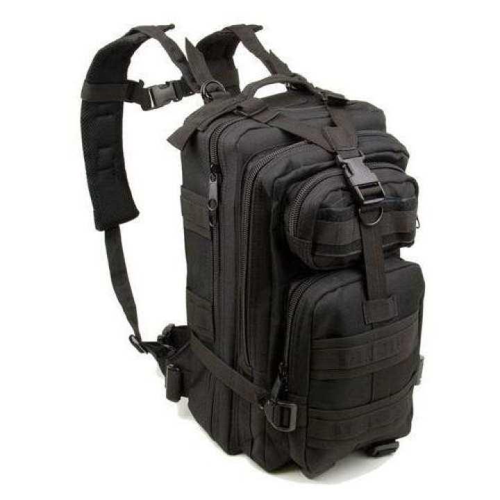 Tactical Black Medium Assault Back-Pack Shoulder-Bag