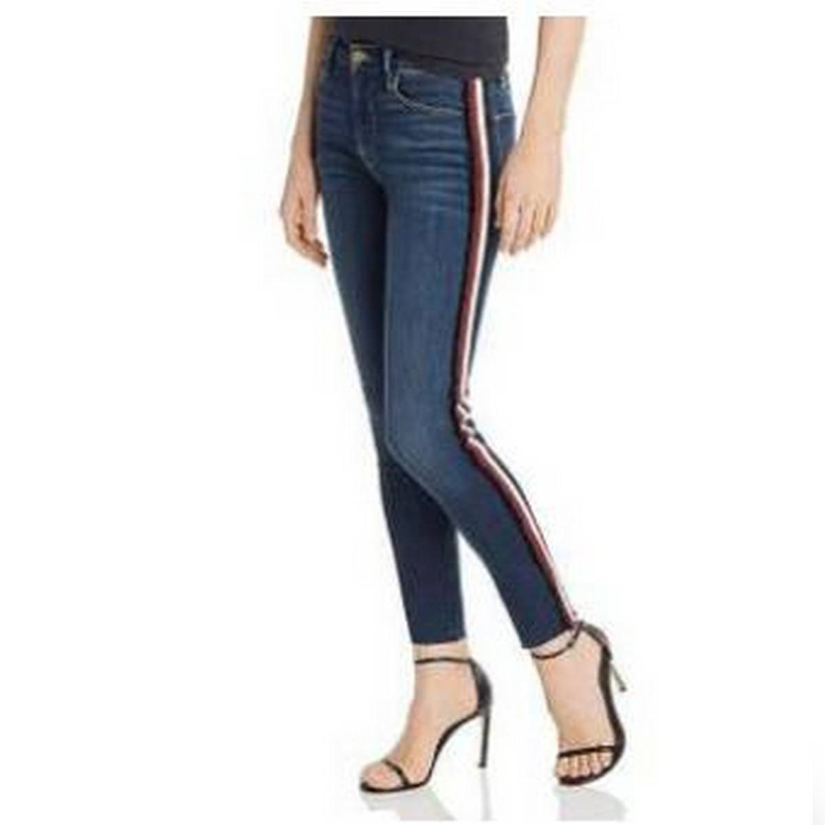 New Arrival Young Women strip Girls Denim Jeans Sale High Quality Pants