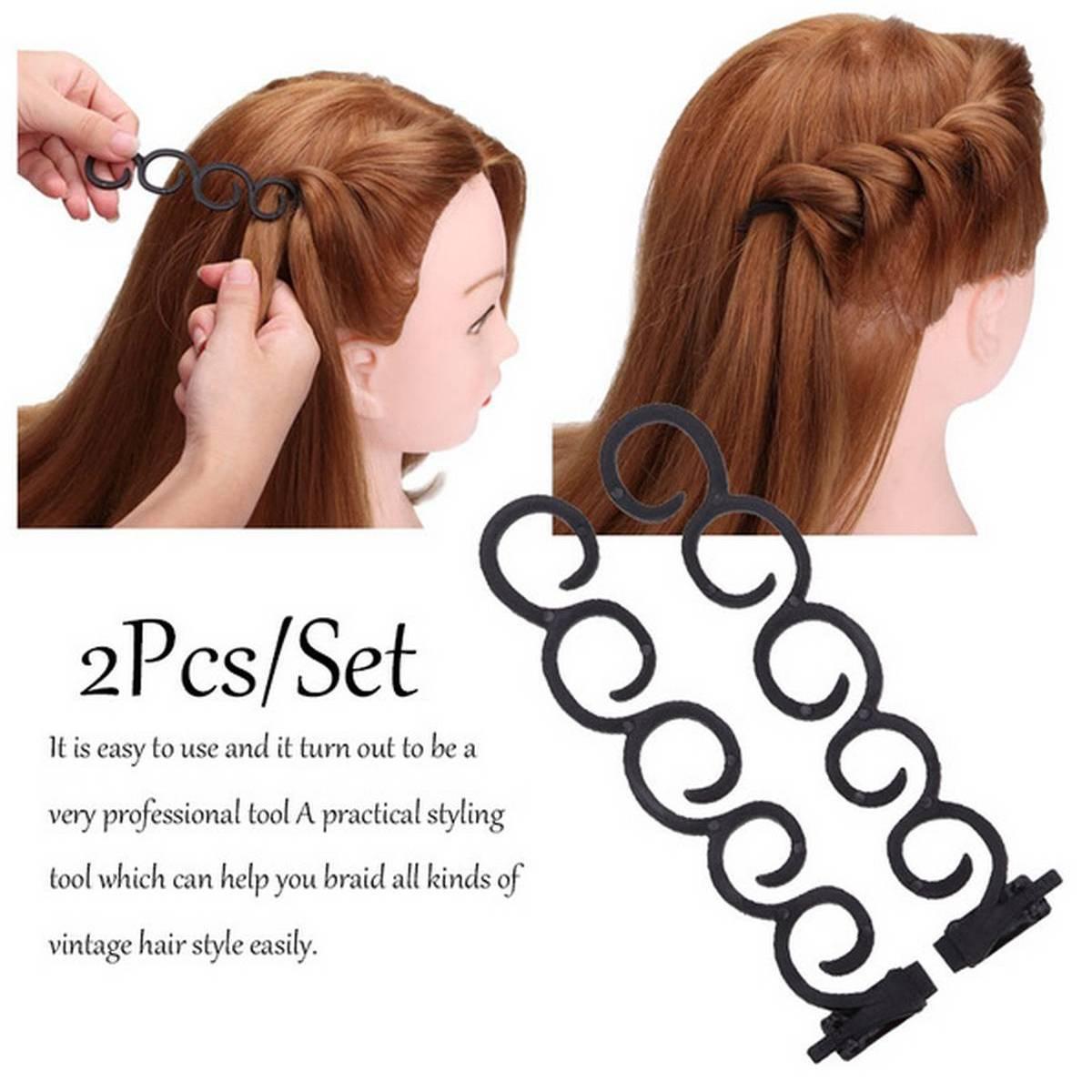 M MISM 2pcs/set 13.5cm/5.3inch Hair styles maker Tress Tool Magic Hair Accessories DIY Hair disk easy simple For Women Girls