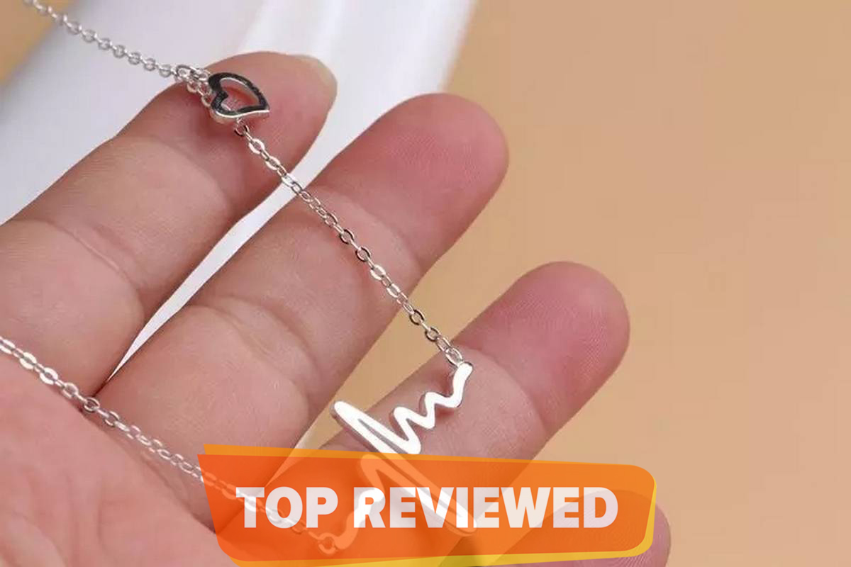 New Fashion Heart Clavicle Necklace Chain Dainty Collares Minimalist Heartbeat Pendants Collier Women Wedding Jewelry