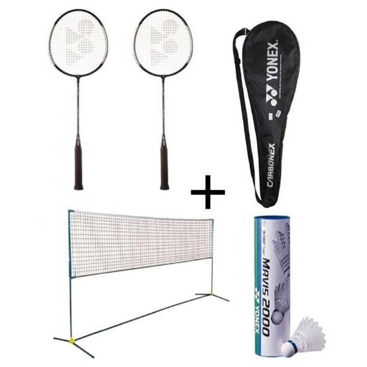 Pack of 9 Badminton Set -Black