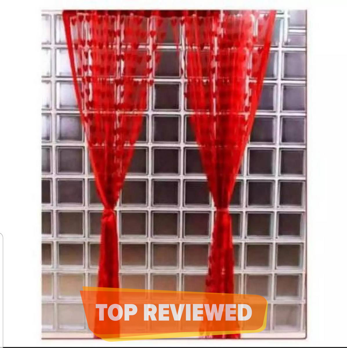 Premium Quality -Red Wire String Blinds Curtain