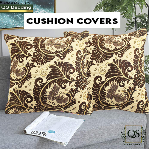 Pack of 4 Home Decor Cushion Covers Sofa Cushion Covers - Sitting Cushion Covers Jacquard Cushion Covers Elegant sofa throw - QS Bedding