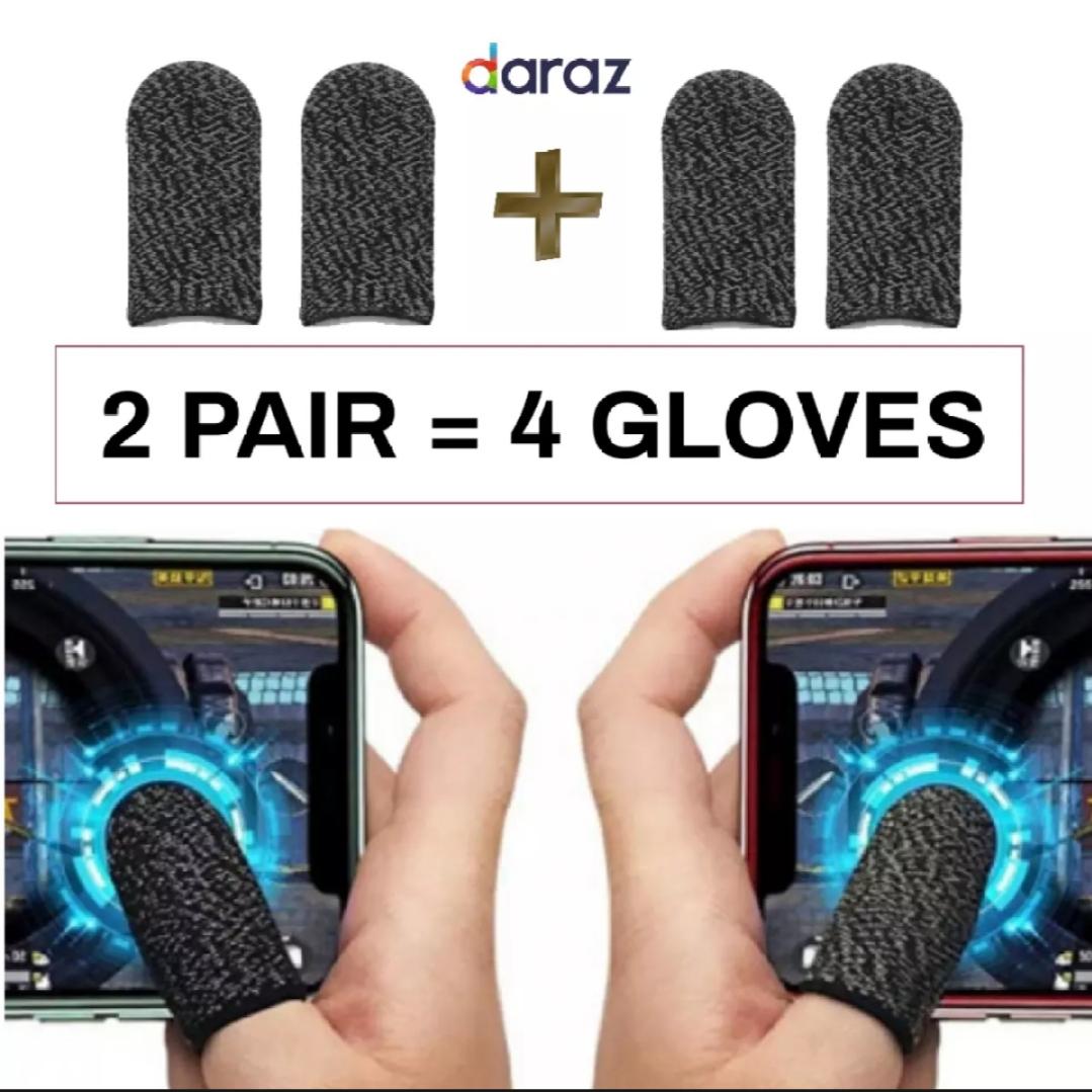 2 Pair / 4 Gloves gloves pubg thumb glove finger sleeve cover grip triger