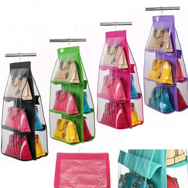 6 Pockets Hanging Handbag Closet