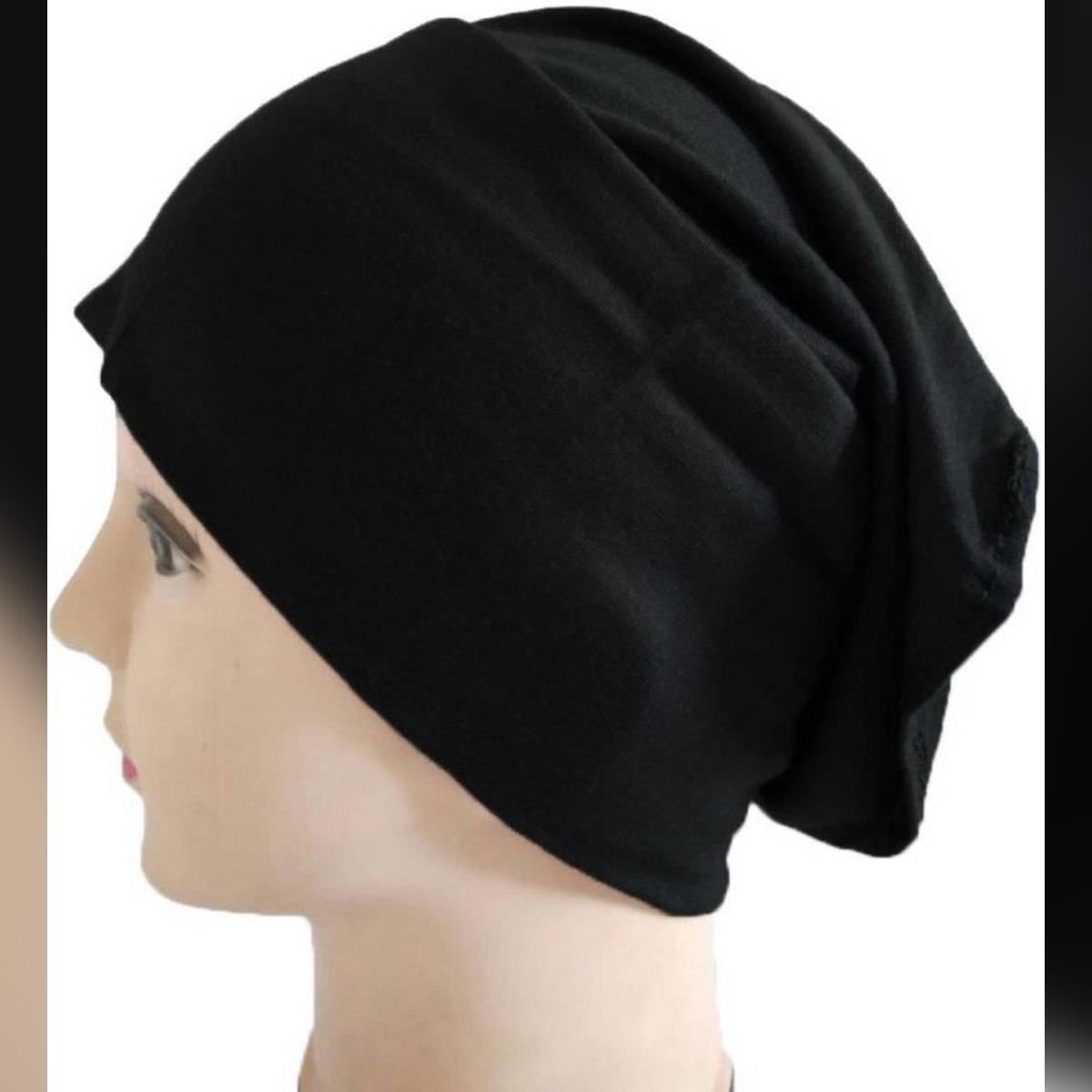 Plain Skin Muslim Headscarf Inner Hijab Caps Wraps Women Islamic Under Scarf Ninja Scarf Ramadan Stretch Cotton Bonnet Caps Full Cover Islamic Hat