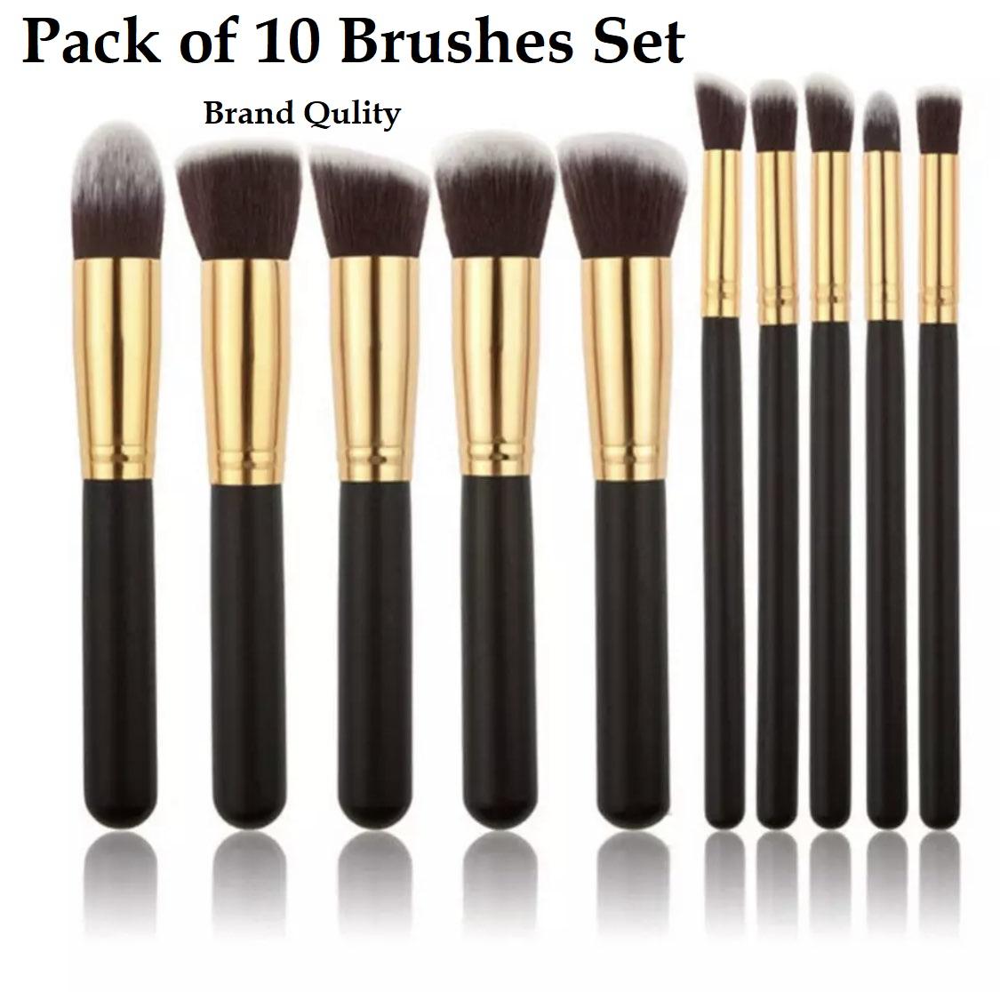 Beautiful Quality Make up Brushes Set 10 Different Brushes Professional Quality make up Brushes Set