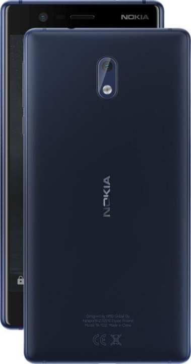 Nokia Nokia 3 - Dual Sim - 2GB - 16GB - 5inch - 4GLTE - Blue