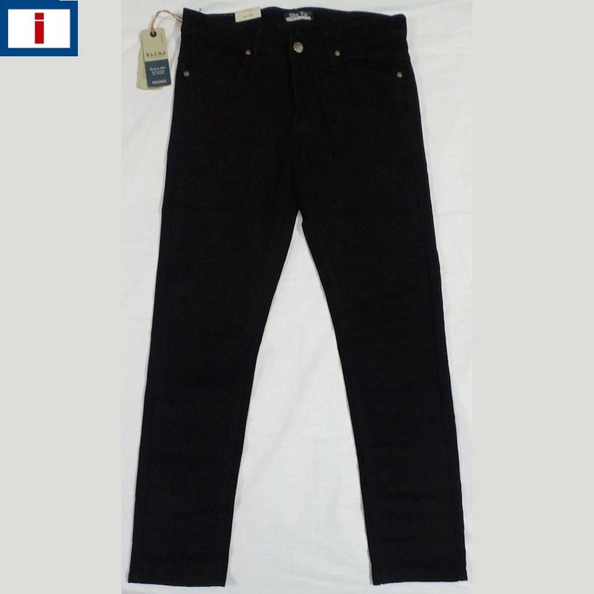Intelligentsia - Mens Slim Fit Jeans (JD-101) - (Jet Black) - A Grade Premium Quality (Export)