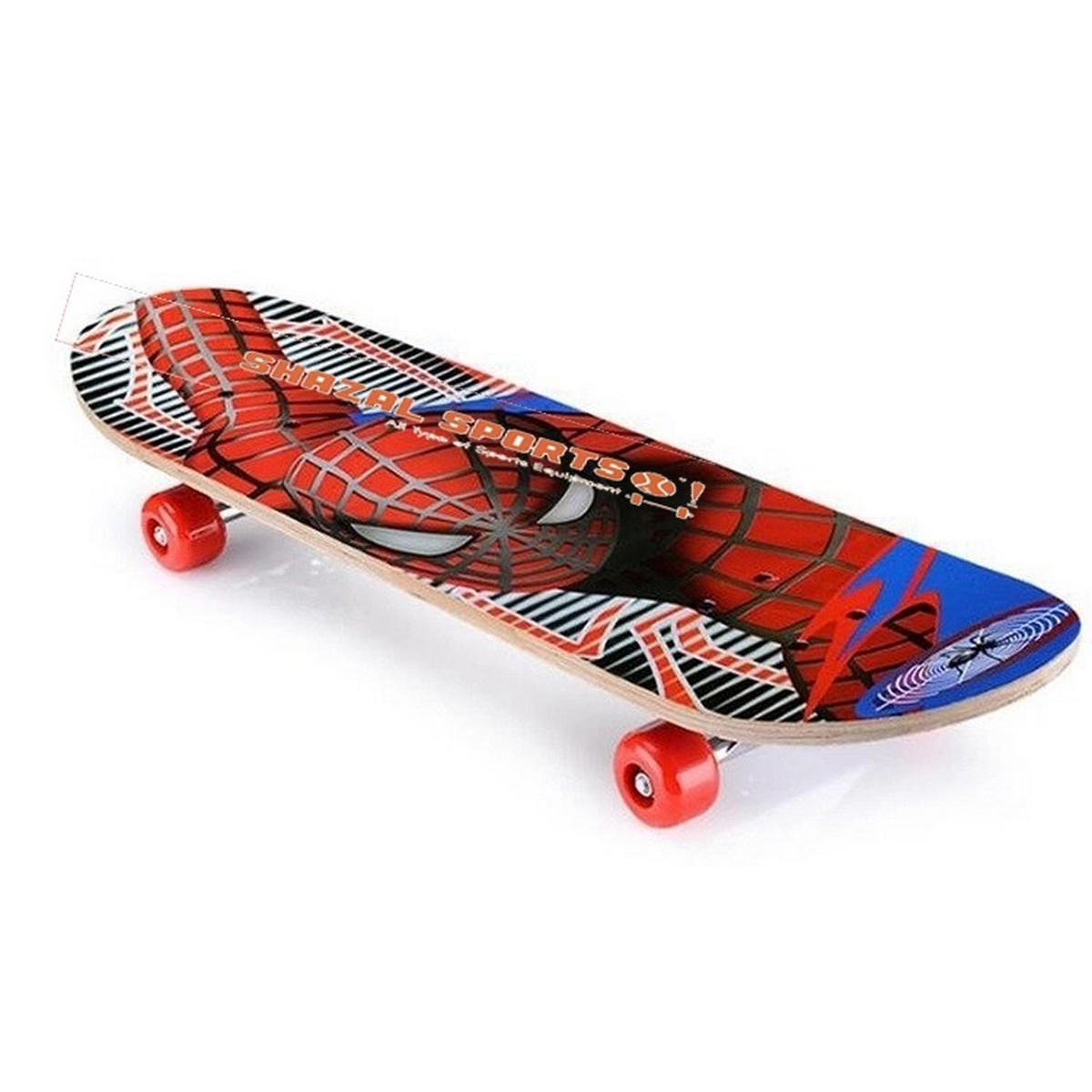 """Spider Man Skateboards Pure Wood Skate Board with Special Wheels for Adult Large 23"""" length"""