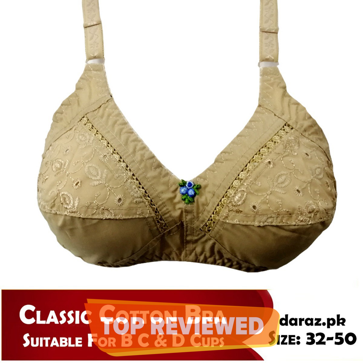 Classic Cotton Bras for Women with Best Quality Non Padded Bra for Girls and Comfortable for all occasions (32 TO 50 All Size Available)