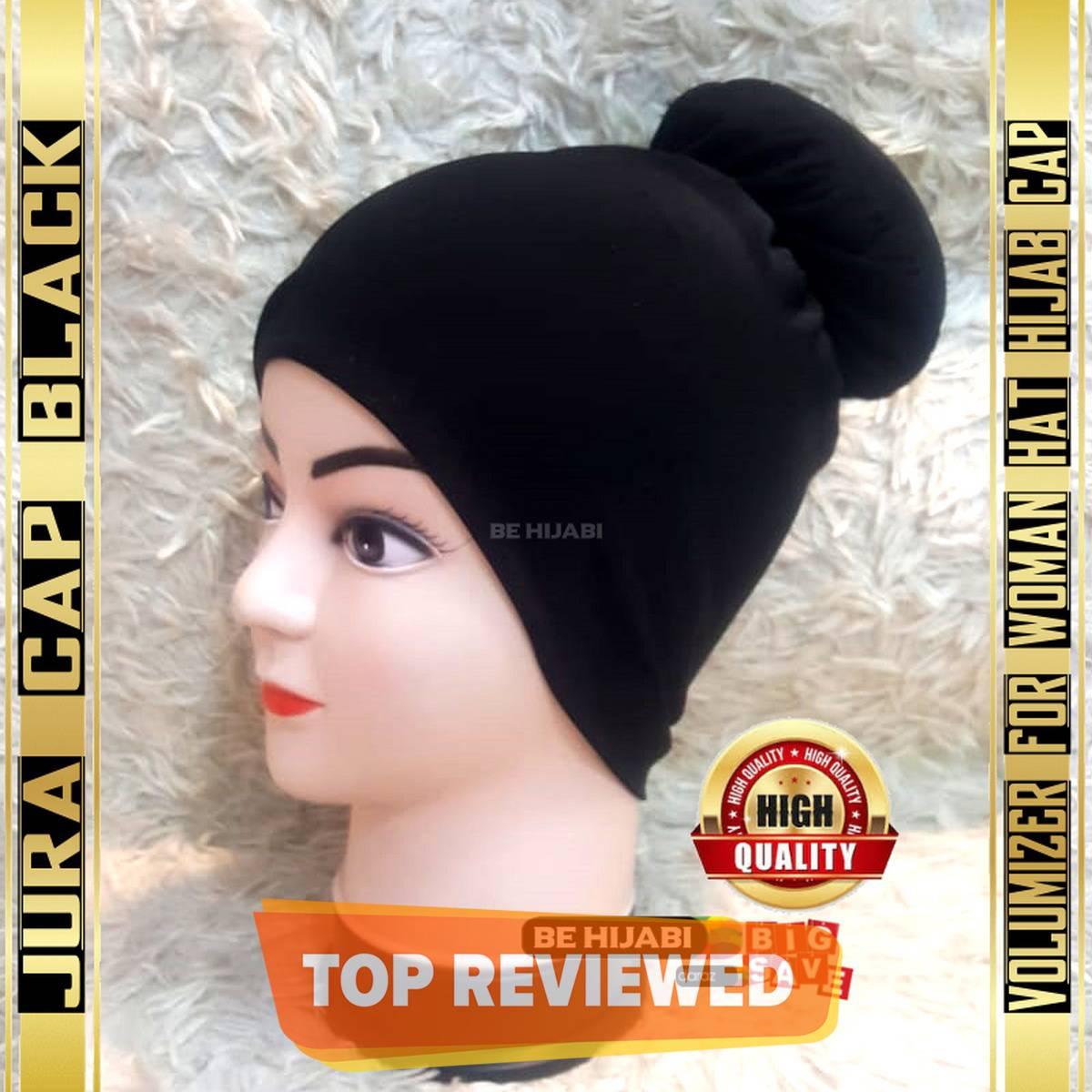 Jura Cap Black Volumizer For Woman Hat Hijab Cap  - Be Hijabi