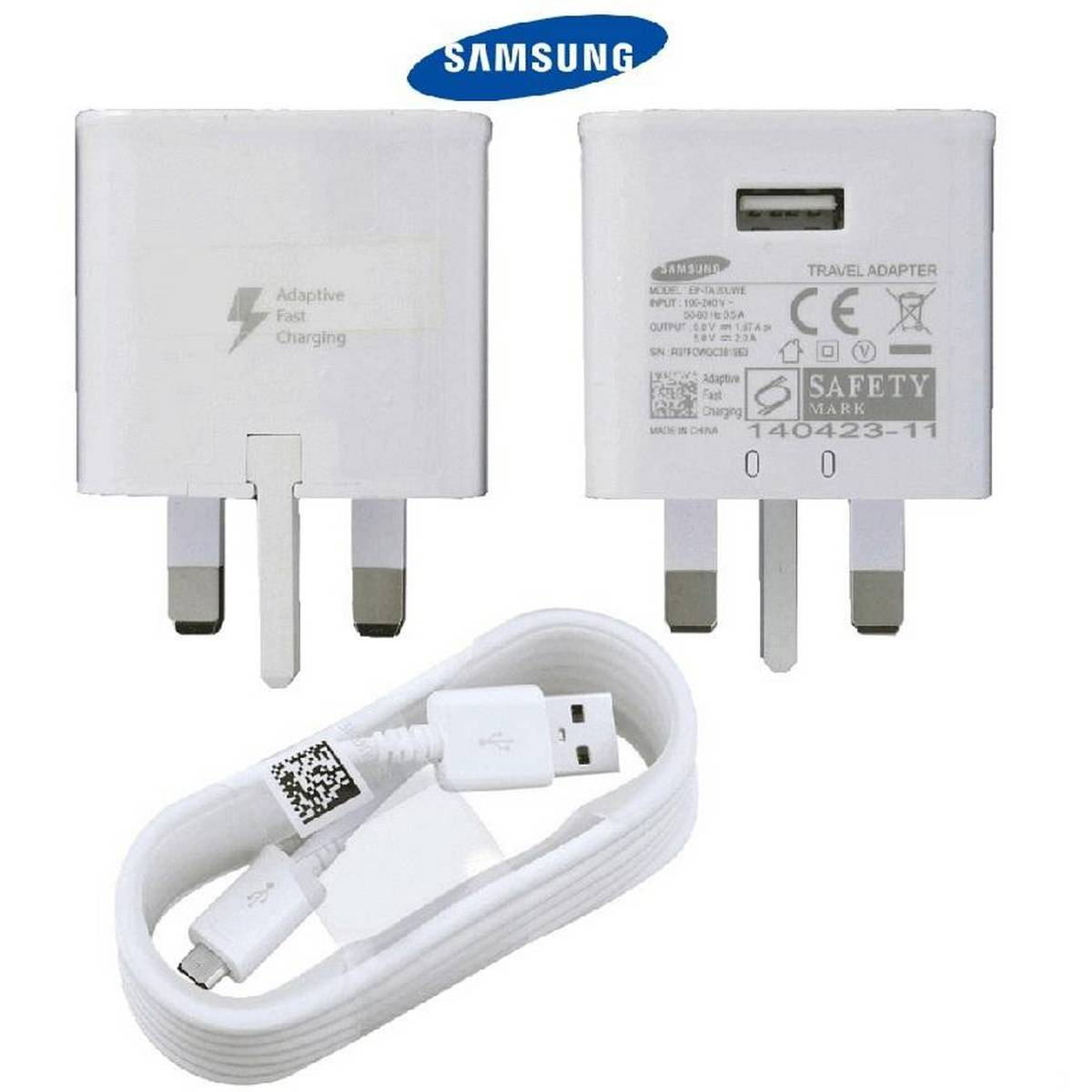 GENUINE FAST CHARGER PLUG & CABLE FOR SAMSUNG GALAXY S7 S6 EDGE NOTE 4 5