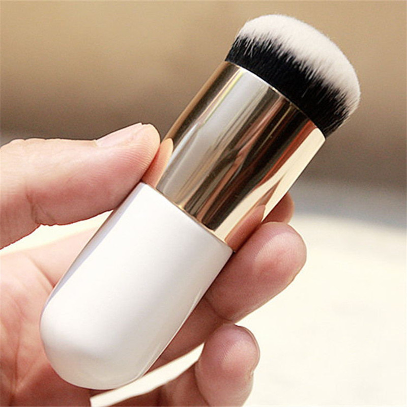 Chubby Pier Foundation Brush Flat Cream Makeup Brushes Professional Cosmetic Makeup Brush for Blending Liquid, Cream or Flawless Powder Cosmetics