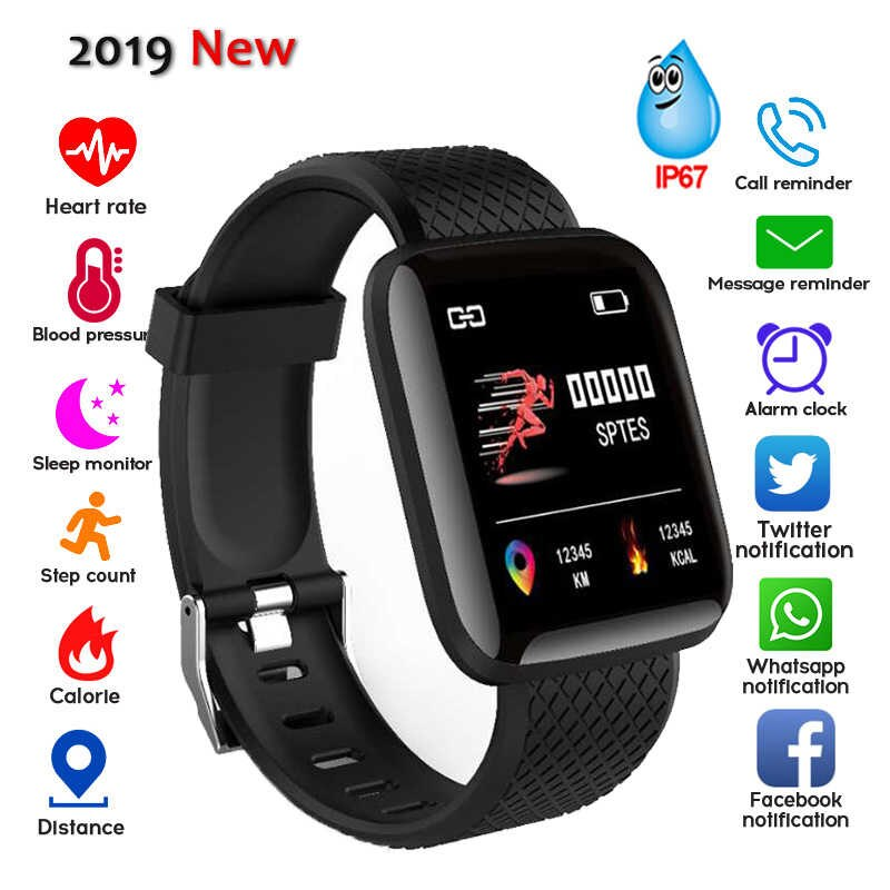 SMART WATCH D13 With Heart Rate Blood Pressure Monitor Smart Band IP67 Waterproof - black