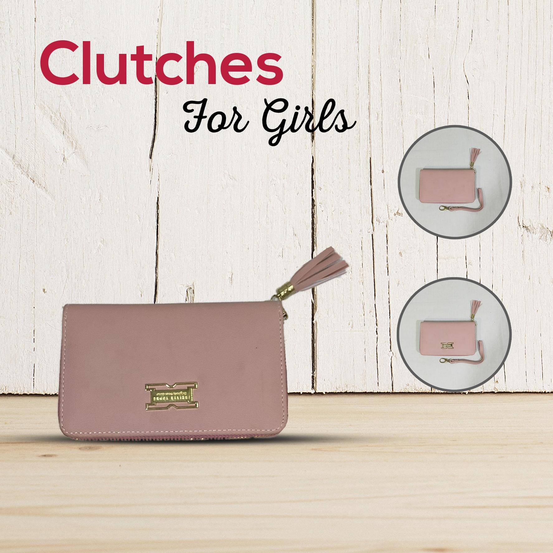 Ladies Hand Clutch - Zipper Style Purse Clutch