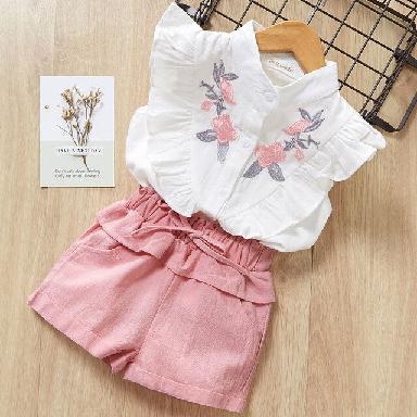 Cute baby girls Summer princess dress Cotton baby girl