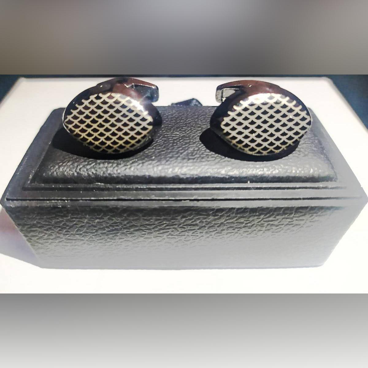 Classy Luxury Cufflinks for Men, Stylish Fashion Cuff Links for Men, Stainless Steel Black Cufflinks for Men, Cufflinks Gift for Him