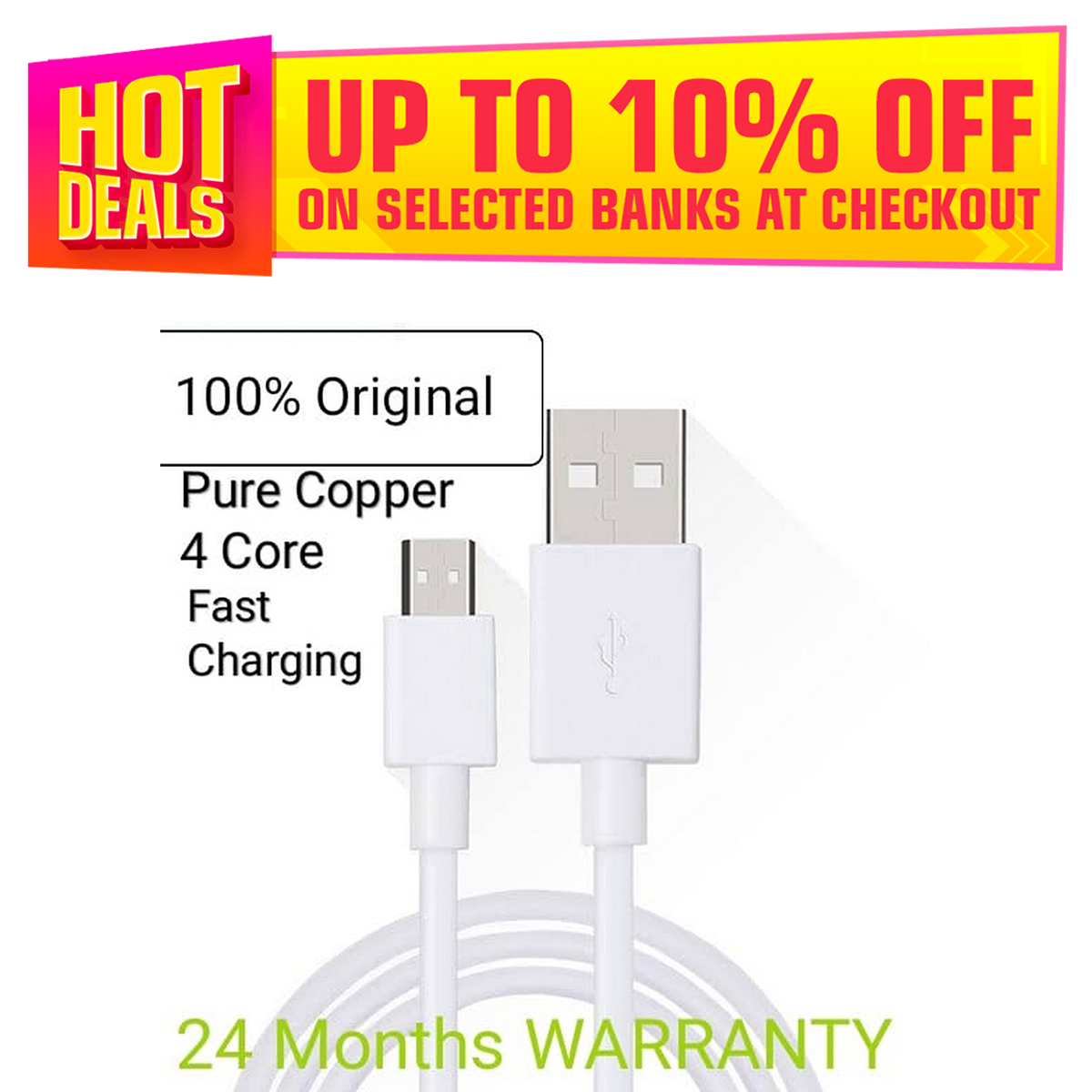 100% Original 3A Pure copper wire Fast Charging Data Cable for All Brandz(Beaware from copies)