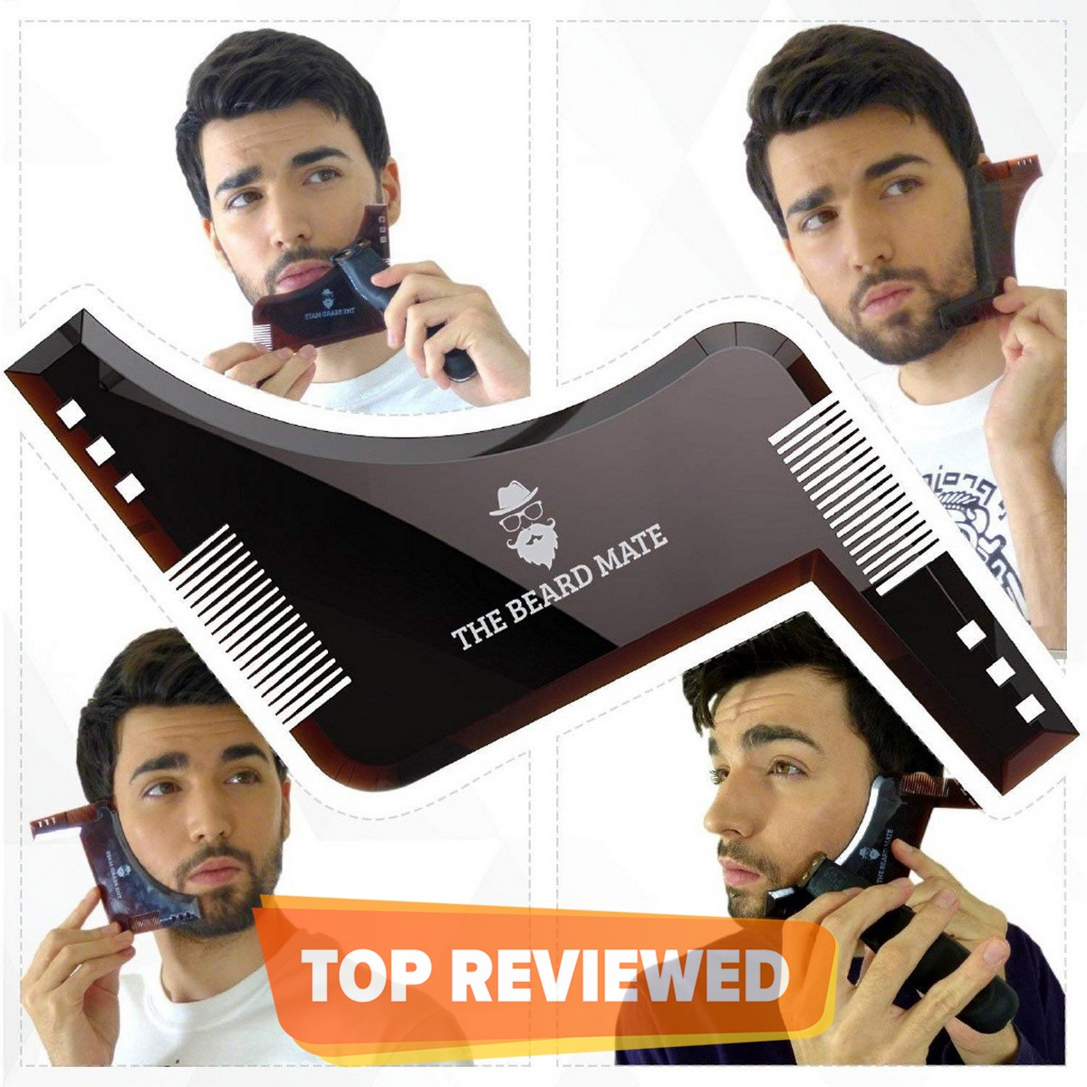Double Side Beard Shaping Beard Shaper PLUS Comb For Line Up and Men Bread Comb