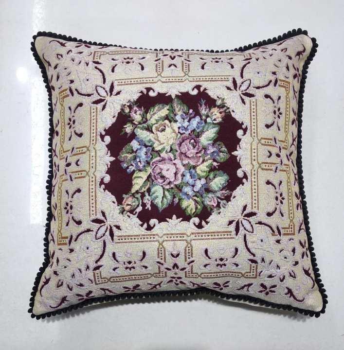 Multicolor Geometric Design Quality Cushion - One Size