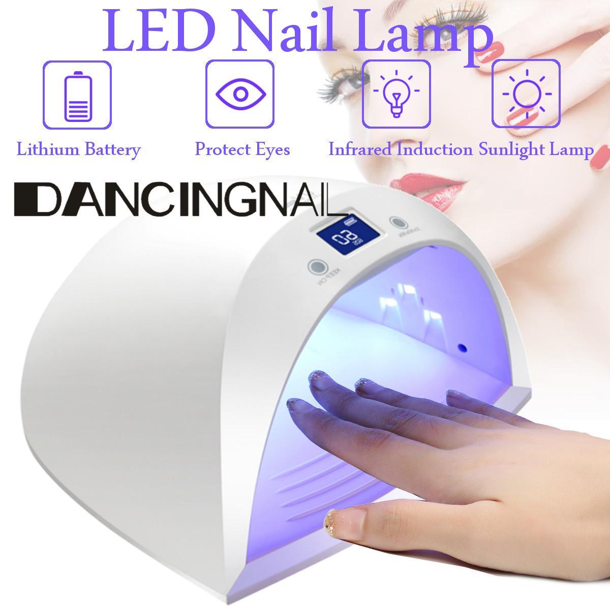 Imported From Abroad Built-in Battery Rechargeable Uv Nail Lamp Gel Nail Polish Dryer Cordless Nail Art Gel Curing Light Nail Led Lamp Nails Art & Tools Nail Dryers