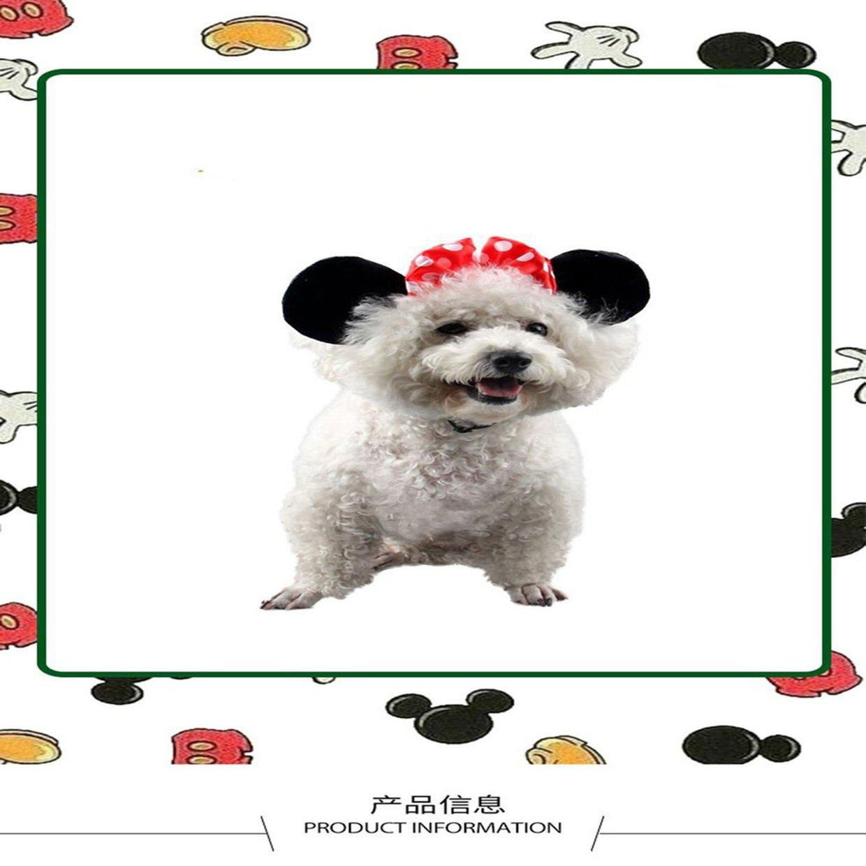 Ablaze Zal Cute Pet Birthday Supplies Dog Cat Accessories Cartoon Headband Mickey Mouse Shape Headband Hair Band Pet Supplies
