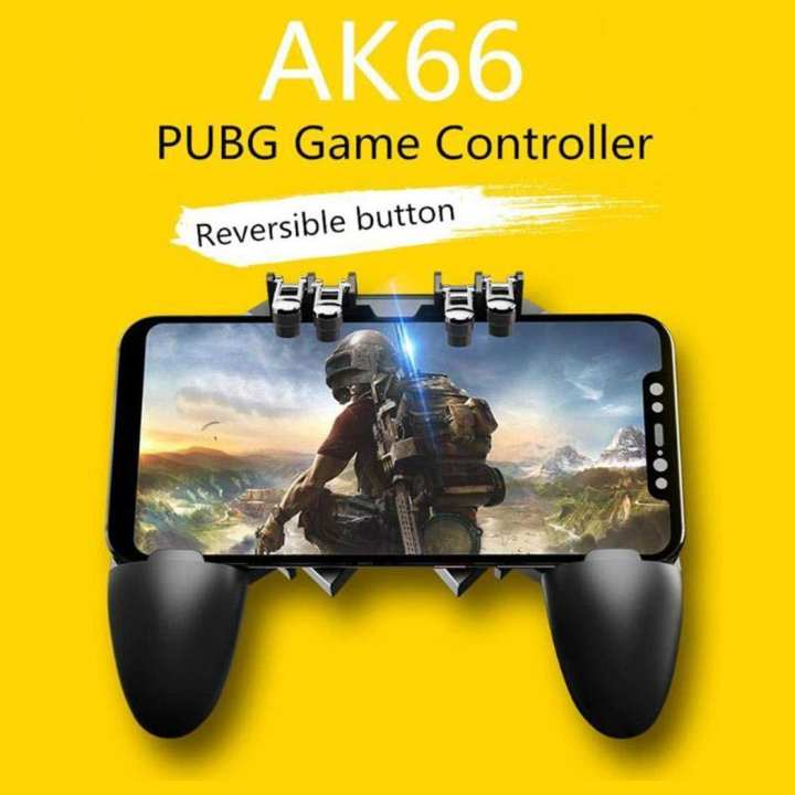 AK66 Mobile Game Controller Six Finger All-in-one Joystick Gamepad for PUBG Standard Controllers