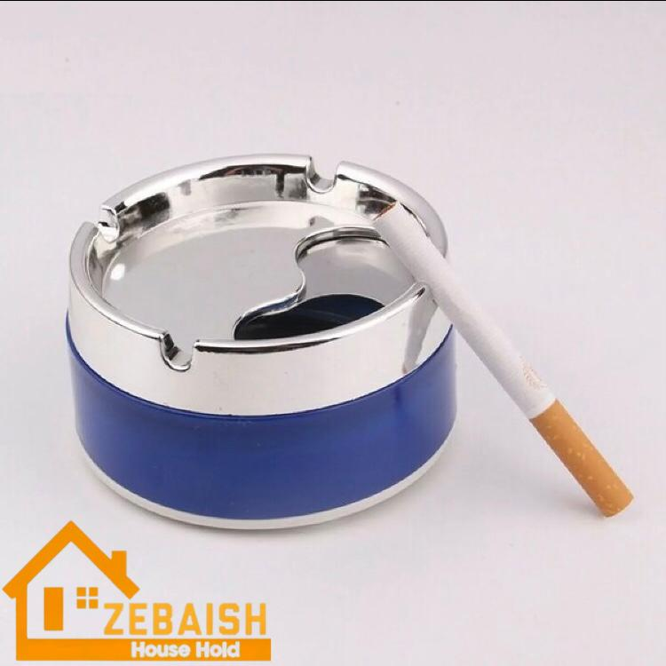 ZEBAISH HOUSEHOLD ash tray fancy portable ashtray for home car and office with rotatable rotating cover lid multicolor