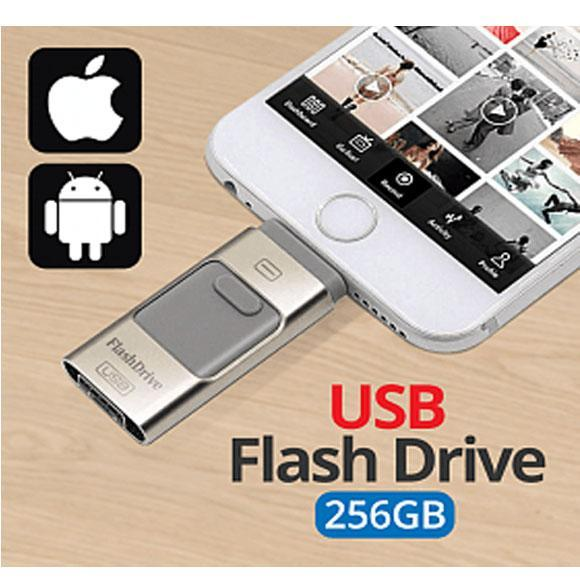 Universal Multi-Color 3 In1 i-Flash 256GB OTG USB Flash Drive For Android, iOS, Laptop & PC