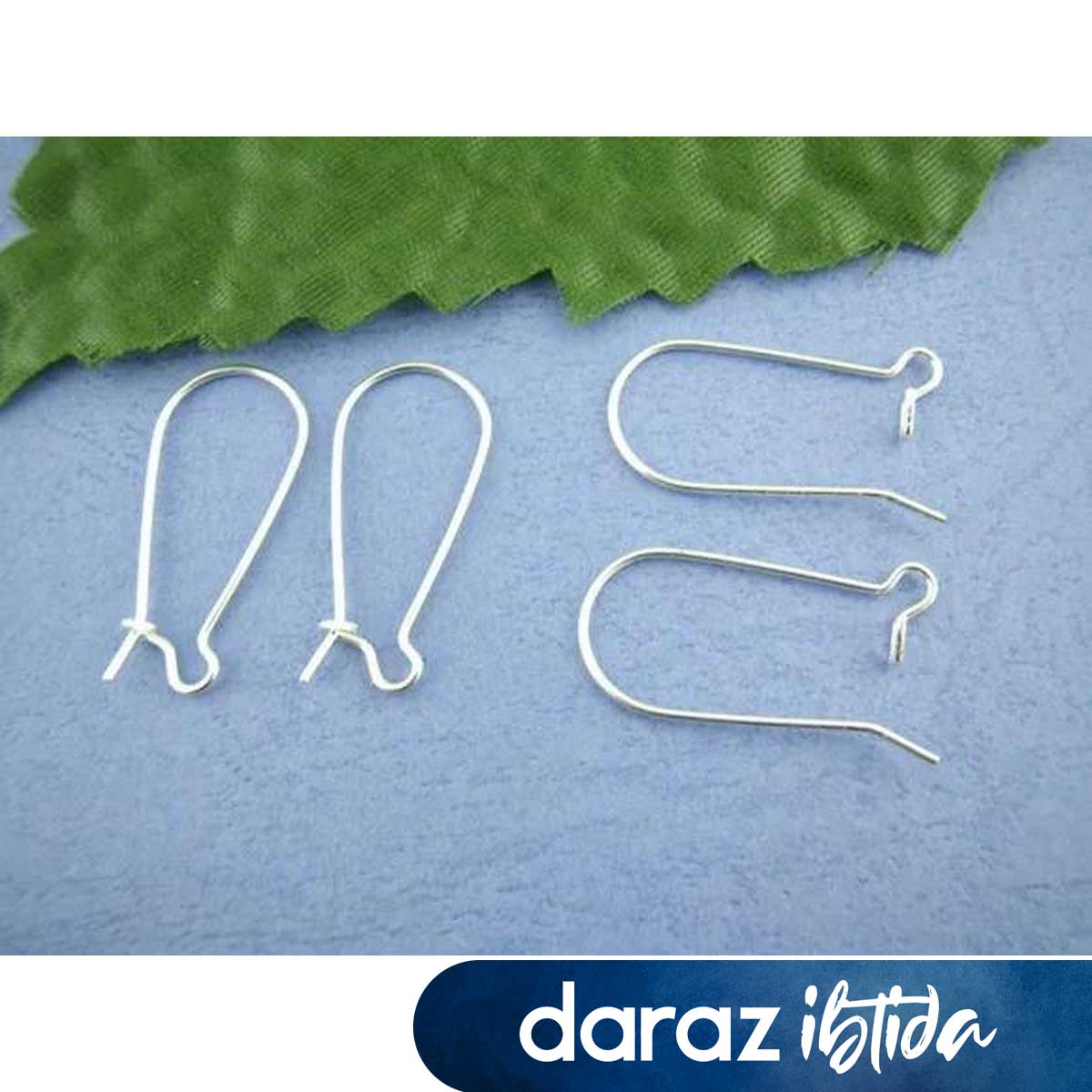 Alloy Earring Components Earring Base jewelry Findings Making Silver Plated 11mm( 3/8 ) x 24mm(1 ), 10 Pairs