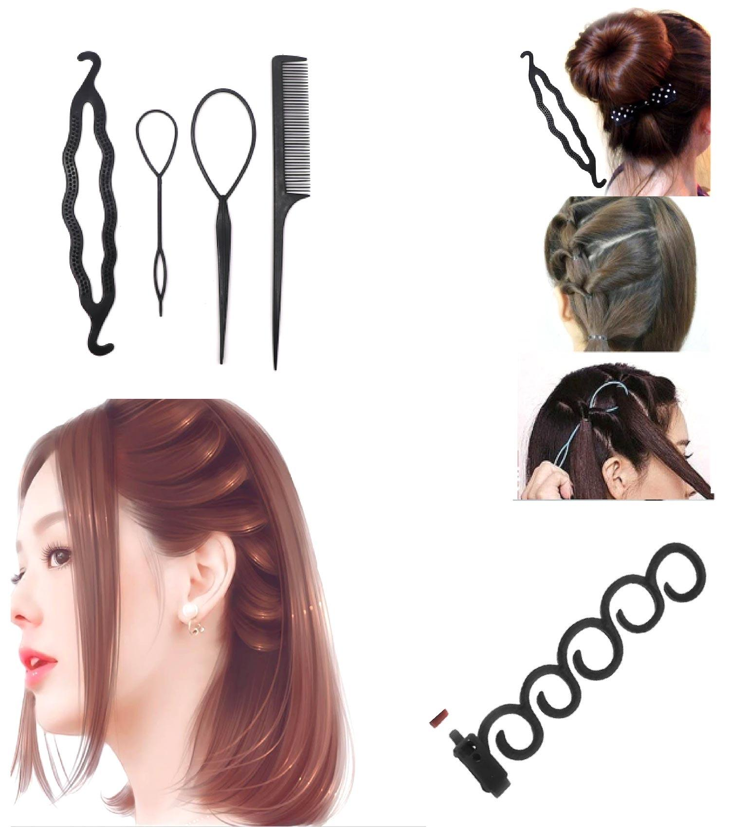 Pack of 2 Hair Styling Set 2pcs Hair Styling Tools Weave Braid Hair Braider Tool Hair Styling Tool