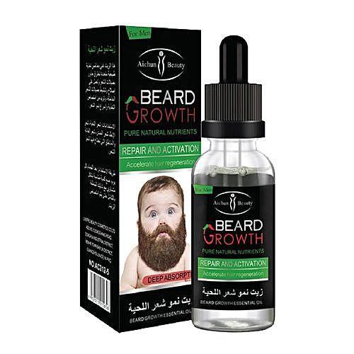 (BEST SELLING) 100% Original Aichun Beauty Natural Herbal Beard Growth Oil For Mustache Growth & Hair Loss Treatment