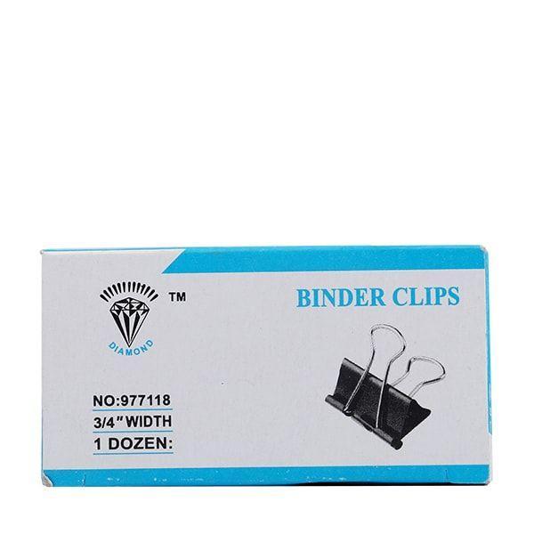 Binder Clips 34 Inch Box - 12 Pcs