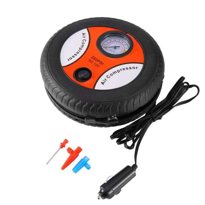 12V  Tyre Shape Air Compressor Car Auto Tyre Inflator Electric Mini Pressure Pump