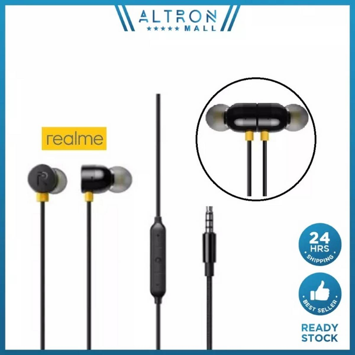 Realme_ Buds 2 Earphones Handfree Wired Handfree/Earphone Quality Stereo Music Sound for PUBG Real Gamming Watching Movies - with Mic Super comfortable cute handfree for girls men - 3.5mm jack Earphones Ear Buds , Head phones for Android Mobile Phone