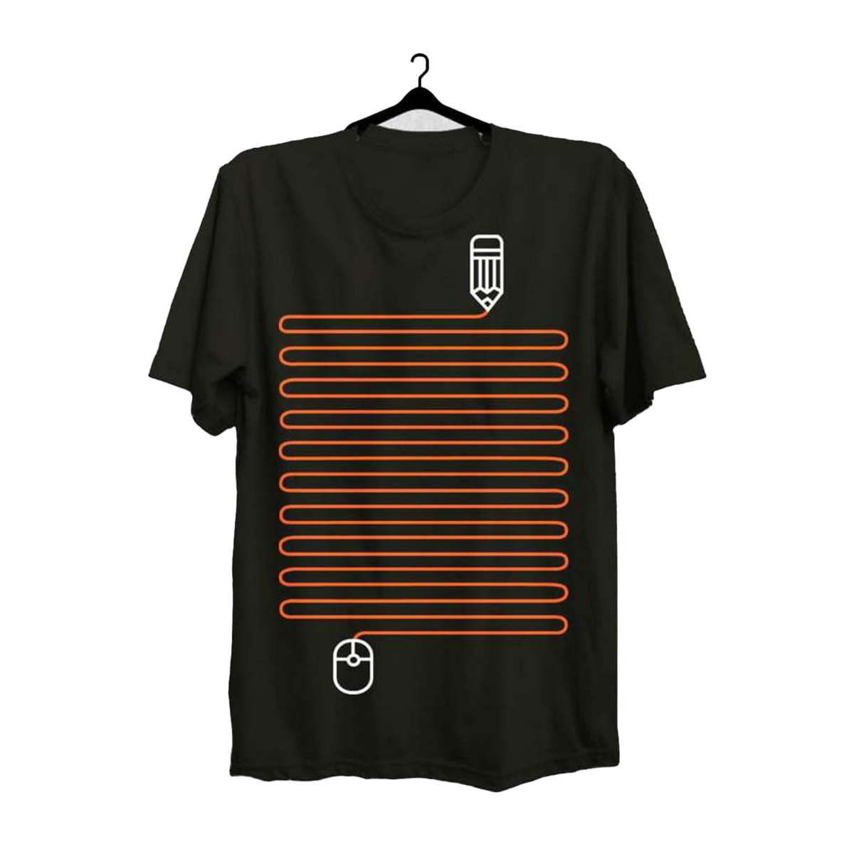 New high quality lining style printed T shirt for men